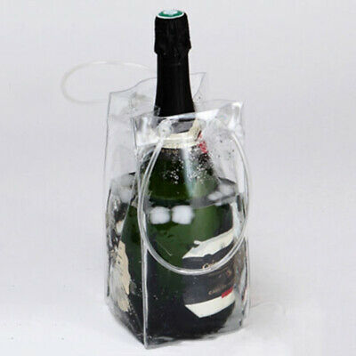1 Piece Clear PVC Ice Bag Carrier Bottle Wine Cooler Chiller Travel Party Bucket