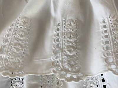 Antique Victorian Baby Dress  Handsewn Hand embroidered Collector Museum Superb