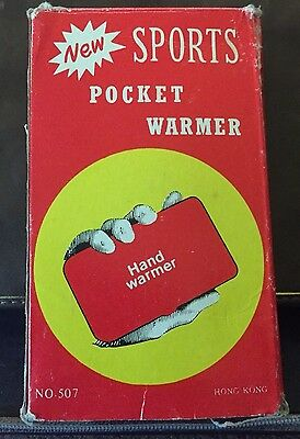 Vintage 'New' Sports Pocket Warmer Hand Warmer With Fuel Stick - Original Box