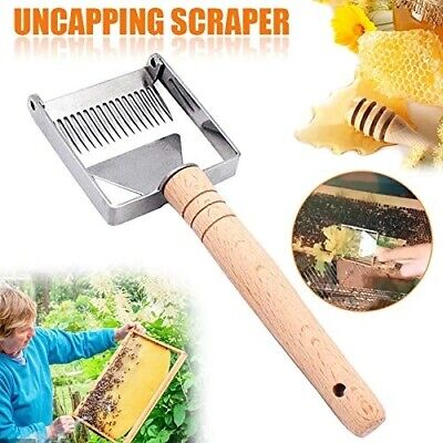 Stainless Steel Bee Hive Uncapping Honey Fork Scraper Shovel Beekeeping Tool