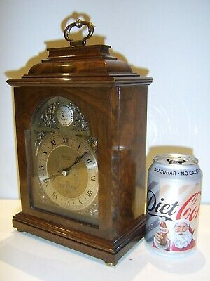 Vintage LARGE SIZE Clock 8 Day Elliott Co Cirencester Walnut Bracket Clock
