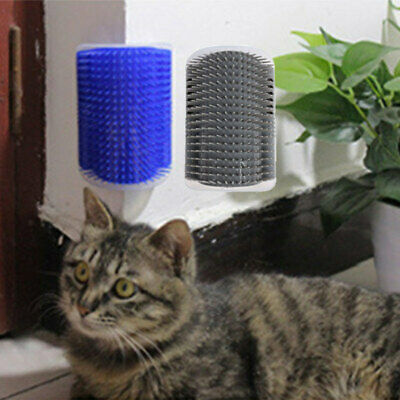 Cat Pet Self Groomer Brush Wall Corner Grooming Massage Comb Cat Toy With Catnip