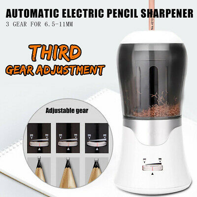 AU TIHOO 3 Gear 6.5-11mm Auto Electric Pencil Sharpener Student Office + Charger