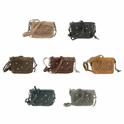 Leder Schultertasche Damen Handtasche Billy The Kid Nasty Cowboys Charlotte