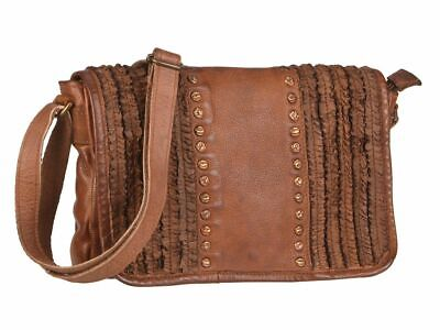 Leder Umhängetasche Damen cognac Schultertasche Billy the Kid Heather