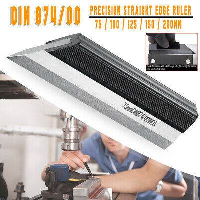 INOX Straightedge DIN874-00 Stainless Steel Precision Ruler 75/100/125/150/200mm