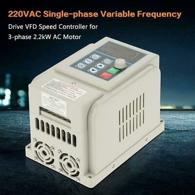 220V V/F Variable Frequency Drive VFD Speed Controller for 3phase 2.2kW AC Motor