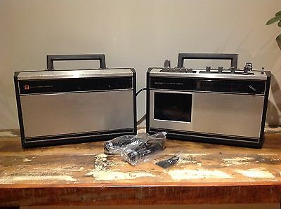 SHARP STEREO CASSETTE TAPE PLAYER. RARE RS-433X RS433X with EXTERNAL SPEAKER
