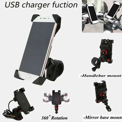 Cell Phone Holder Mount w// USB Charger for Kawasaki Vulcan VN 2000 800 900 700