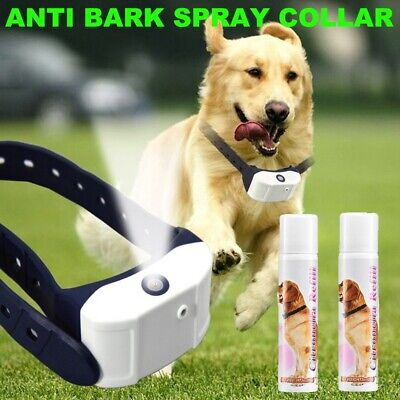 RECHARGEABLE Anti Bark Spray Dog Collar Stop Barking Humane AU