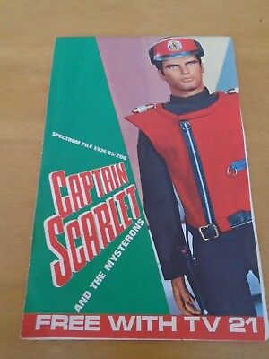 Captain Scarlet TV21 Free gift Album & full set of 14 spectra prints
