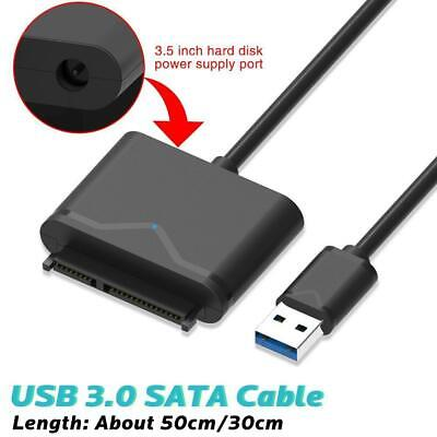 SATA to USB 3.0 2.5/3.5 inch HDD SSD Hard Drive Disk Converter Cable Adapter UK