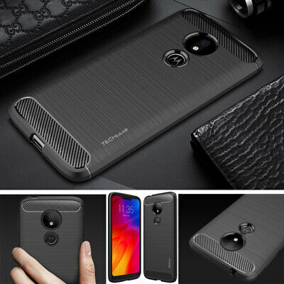 Premium Carbon Fibre Shock Proof Slim Case Cover for Motorola Moto G7 Power