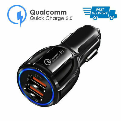 Quick Charge 3.0 Car Charger 2 Ports USB Qualcomm QC Fast Dual Universal Adapter