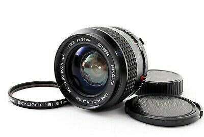 """Mint+++"" Minolta MC W.Rokkor-SI 24mm F2.8 MF Prime Lens MD Mount w/ Filter 1480"