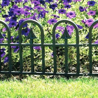 4,8,12 or 16 Gothic Style Garden Lawn Edging Grass Border Fencing Driveway Patio