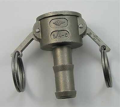 "PT Cam Lock Fitting 3/4"" C 3/4-C Fitting Coupling Camlock  Hose Coupler"