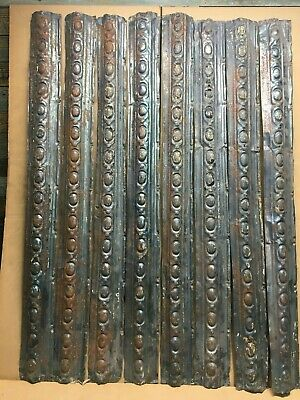 "8pc Lot of 48"" by 4"" Antique Ceiling Tin Vintage Reclaimed Salvage Art Craft"