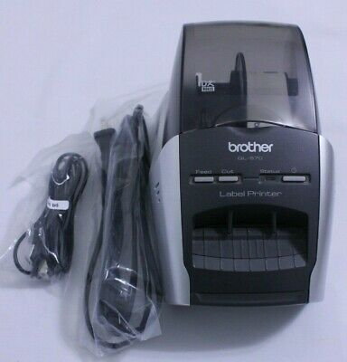 BROTHER QL-570 TESTED \u0026 Working Label Thermal Printer With Cables