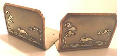 Antique Heintz Usa Sterling Bronze Bookends Mission Arts & Crafts