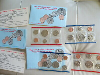 Lot of 2 1994 P and D US Mint Uncirculated Coin Sets - 24 coins (#16)