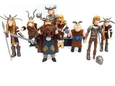 How to Train Your Dragon 8x Figures Character Set: Hiccup Astrid Stoick Ruffnut