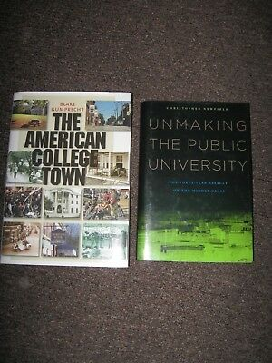HIGHER EDUCATION THEORY & LEADERSHIP 2 books THE AMERICAN COLLEGE TOWN; UNMAKING