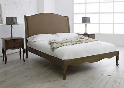 Instrument ORTA biscuit and oak bed frame