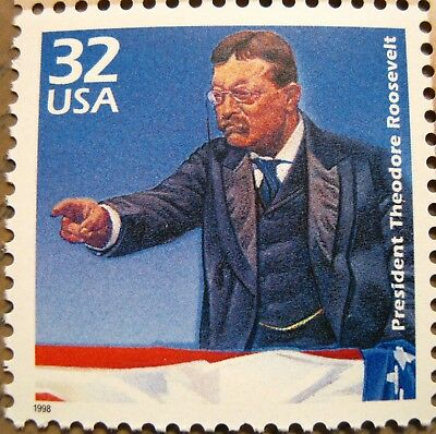 Theodore Teddy Roosevelt Scarce Mint MNH US Postage Stamp Scott 3182B