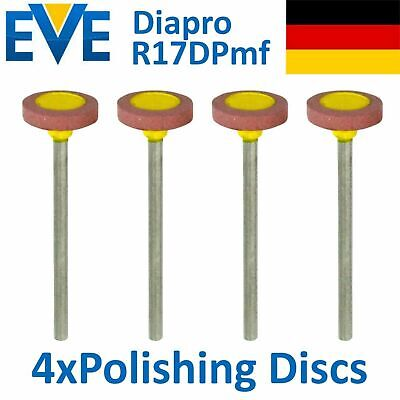 4 Dental EVE Diamond Polishing Discs Disk Silicate Ceramic Medium Polish Diapro