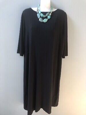 29dffdf2c8 J Jill Wearever Collection Maxi Dress Women's Size XL Black 3/4 Sleeves  Stretch