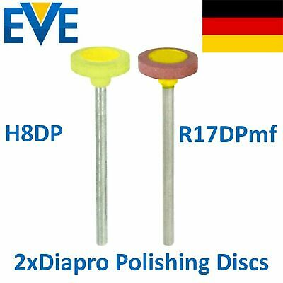 2 Dental EVE Diamond Polishing Disc Disk Silicate Ceramic Fine Medium Diapro