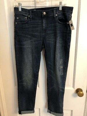 Gap Girlfriend Denim Jeans size 27 R US 4 New with tags