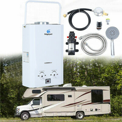 Ridgeyard Portable Gas Hot Water Heater Shower Camping Caravan Outdoor LPG 4WD