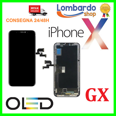 Display Schermo Per Apple Iphone X Oled Touch Screen Frame Lcd