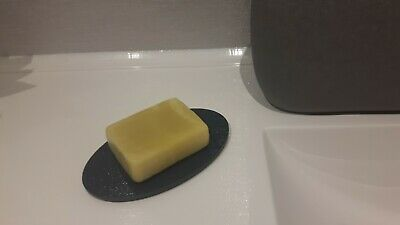 Soap Holder Tray Oval Acrylic Perspex with anti slip rubber feet
