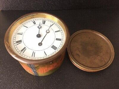 Vintage Swiss Mantle Clock Wind-Up Movement/ Face/ Hands *FOR PARTS OR REPAIR*