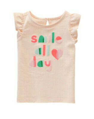 bc5b197842b07 NWT GYMBOREE GIRLS Color Happy Embroidered Smile Top Size 4T & 5T ...