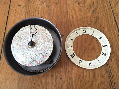 Vintage Fortuna Mantle Clock Wind-Up Movement/ Face/ Hands *FOR PARTS OR REPAIR*