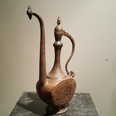 18th CENTURY VINTAGE COPPER TEAPOT Persian Arabic Moroccan Middle Eastern