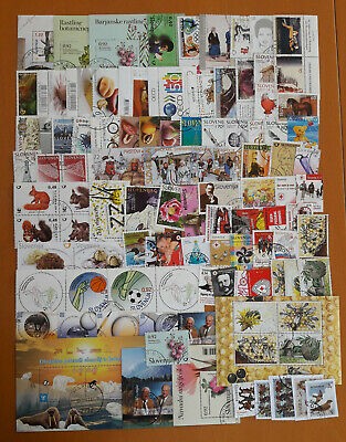 SLOVENIA 100 different used stamps and blocks LOT 1