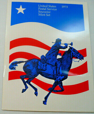 1973 Souvenir Mint Set USPS Souvenir Stamp Yearbook Album with Stamps Free Ship