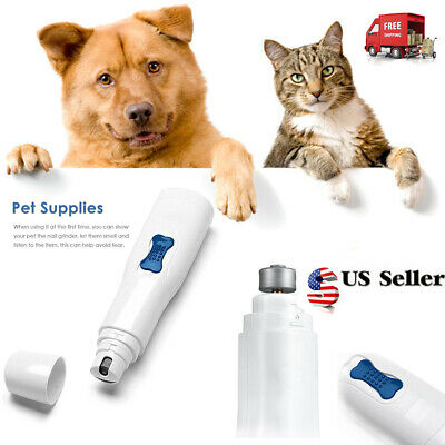 Professional Pet Dog Cat Claw Trimmer Nail Groomer Grinder Electric Clipper Kit