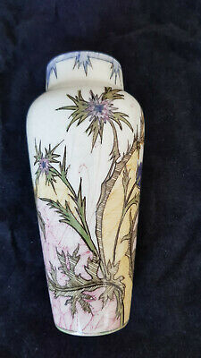 Gouda Zuid Vase Distle Jugendstil Art Nouveau Vase Holland Pottery Distel