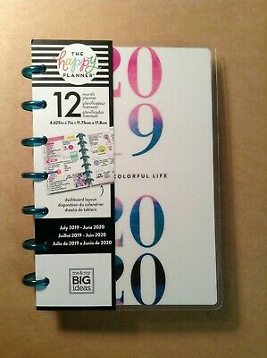 """NEW! me & my BIG Ideas 2019-2020 MINI """"WATERCOLOR"""" Planner - Dashboard Layout"""