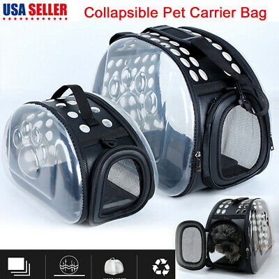 Pet Carrier Large Cat/Dog Comfort Travel Bag Airline Approved 3 Side Breathable