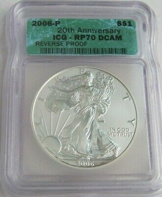2006-P ICG RP70 Rervese Proof AMERICAN SILVER EAGLE ~First Year of Issue~