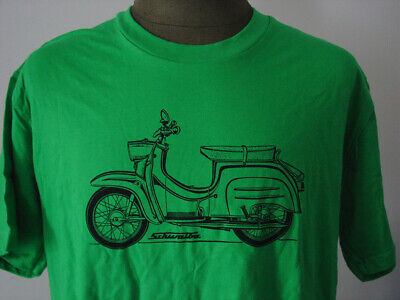 SIMSON Schwalbe ★ T-Shirt * NEU * Siebdruck * Moped * DDR * Roller * kelly green