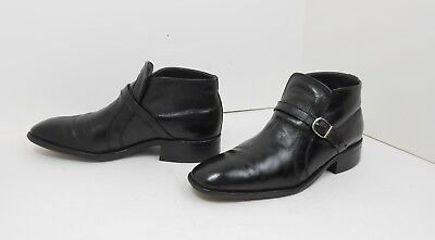 5404e4f095b Vtg 60 s-70 s Sears Easy Flex Black Leather Ankle Beatle Mad Men Boots 9 D