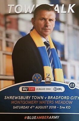 SHREWSBURY TOWN v BRADFORD CITY 2018/19